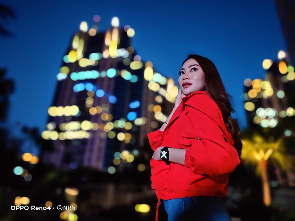Hasil foto OPPO Reno4 - Night Flare Portrait