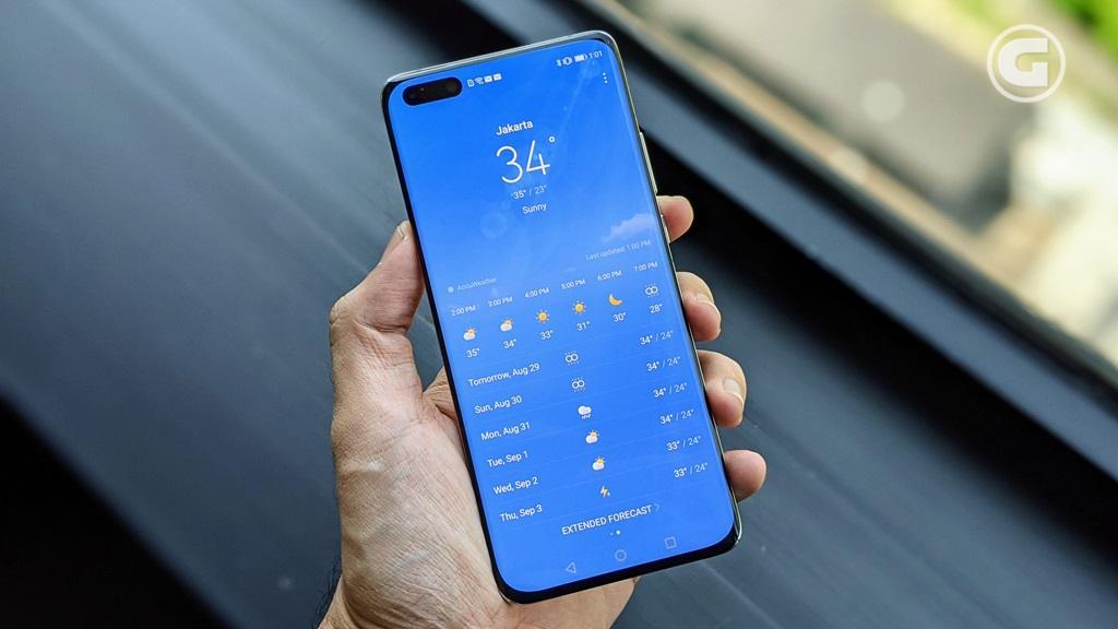 Layar Huawei P40 Pro Plus