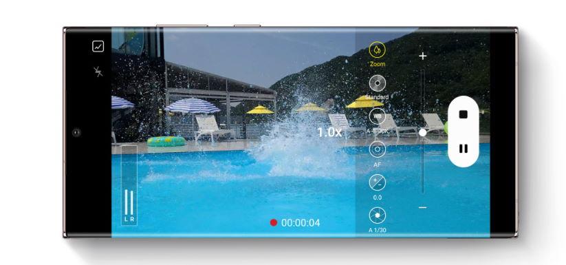 UI kamera Galaxy Note20