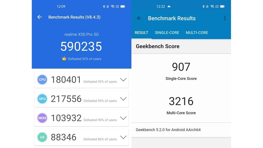 realme X50 Pro 5G Benchmark