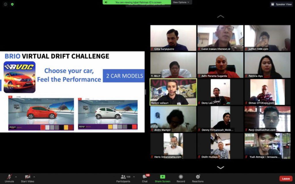 Konferensi pers peluncuran game Brio Virtual Drift Challenge