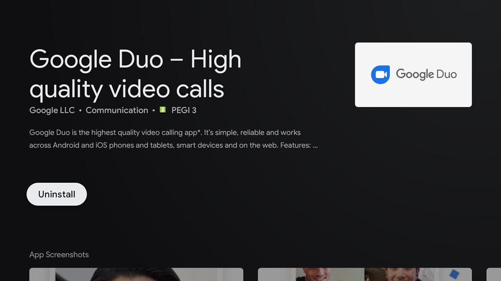 Google Duo Android TV