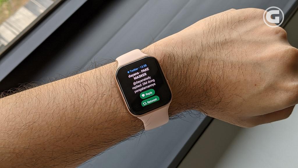 Tampilan notifikasi OPPO Watch