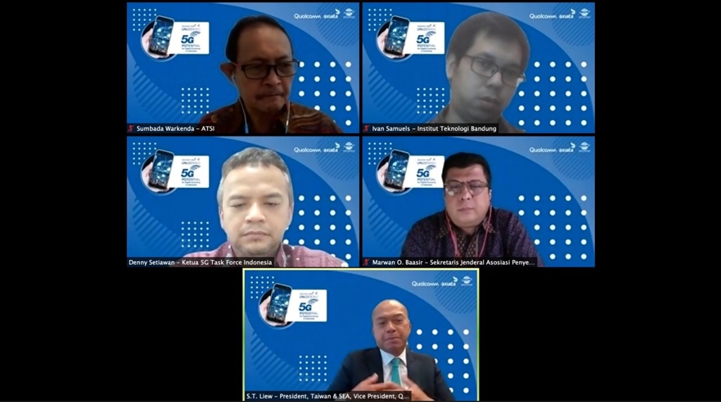 Panel Diskusi Webinar 5G Qualcomm Axiata