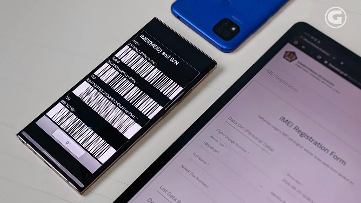 Registrasi - Daftar IMEI smartphone terblokir