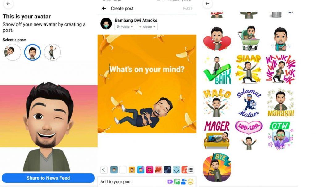 bikin facebook avatar gampang