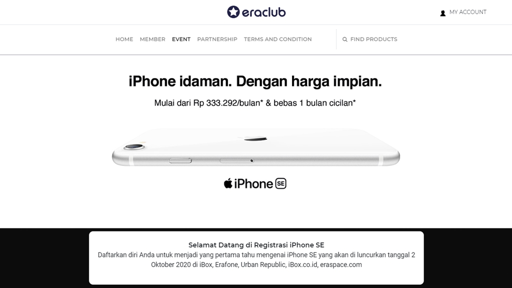 Harga iPhone SE 2020 Eraspace