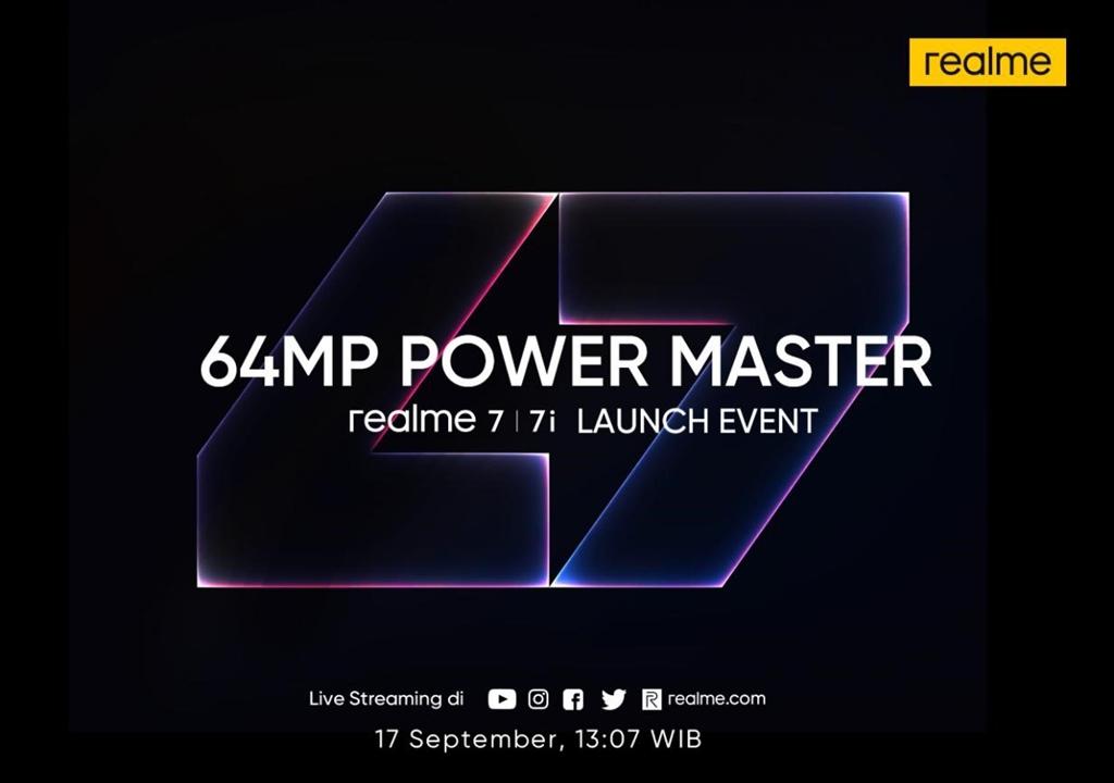 realme 7 series launch date