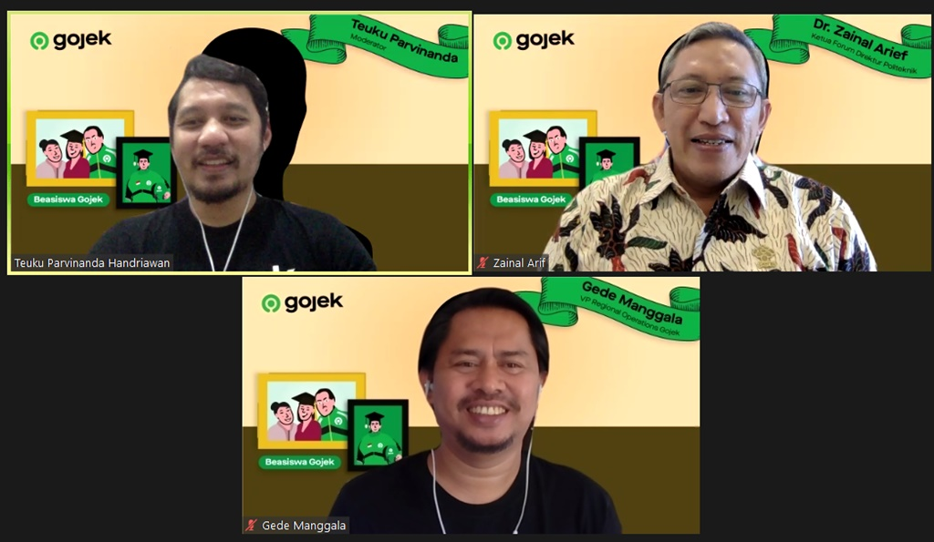 Diskusi beasiswa Gojek