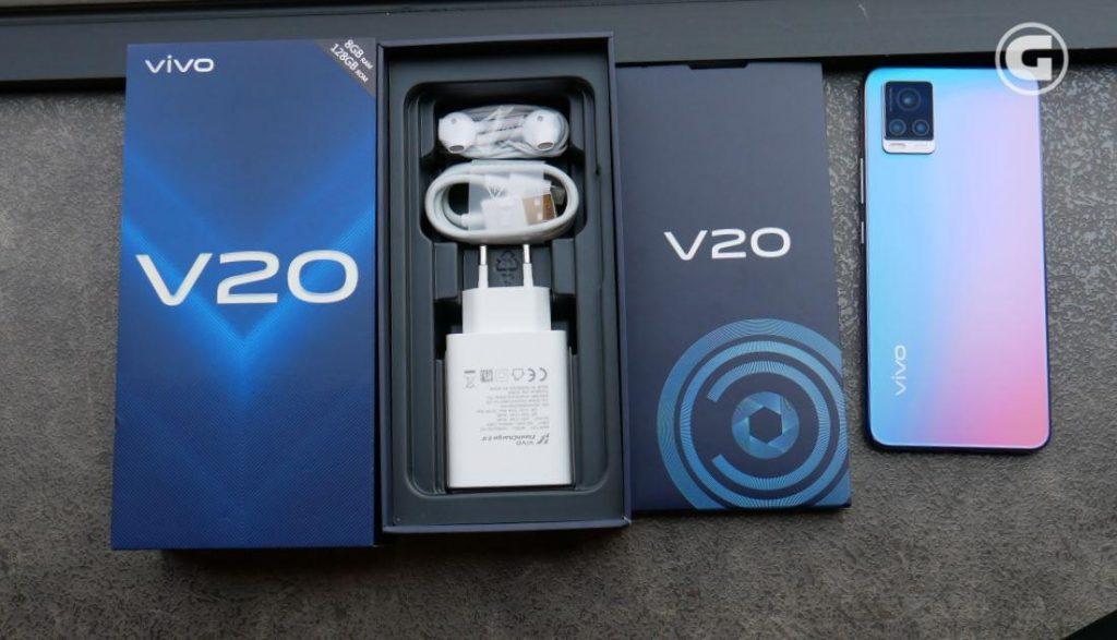 Isi box Vivo V20