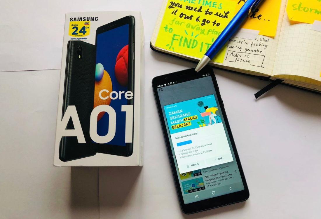 Samsung Galaxy A01 Core Android Go Sekolah dari RUmah