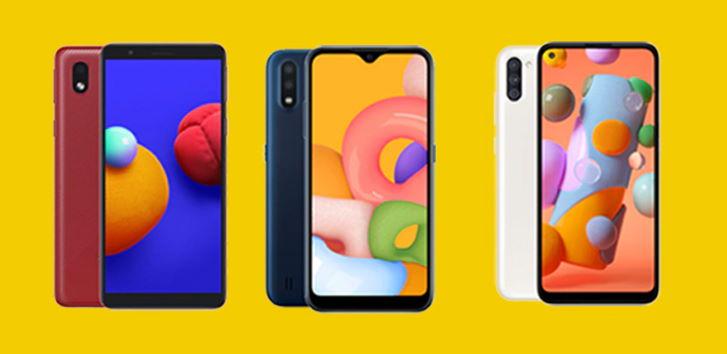 Perbandingan Spesifikasi Samsung Galaxy A01 Core VS Galaxy 01 VS Galaxy A11