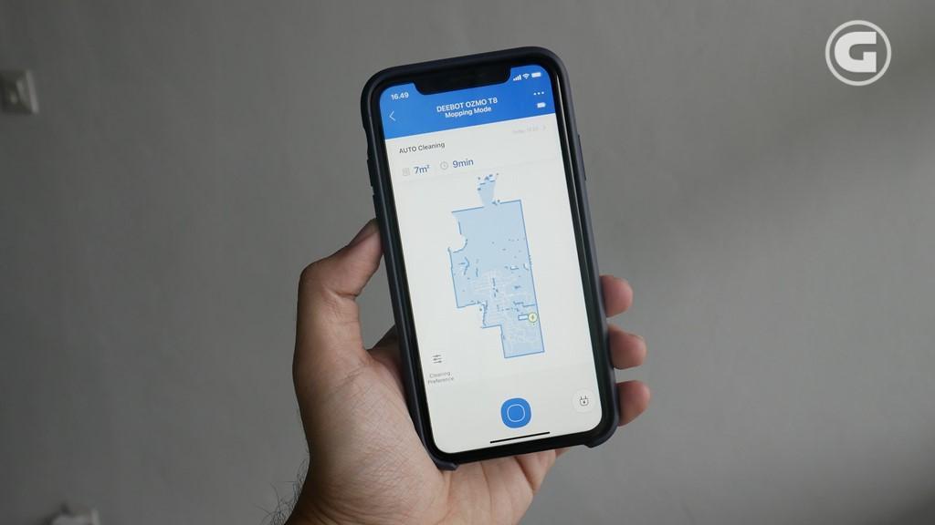 Tampilan Aplikasi EcovacsHome