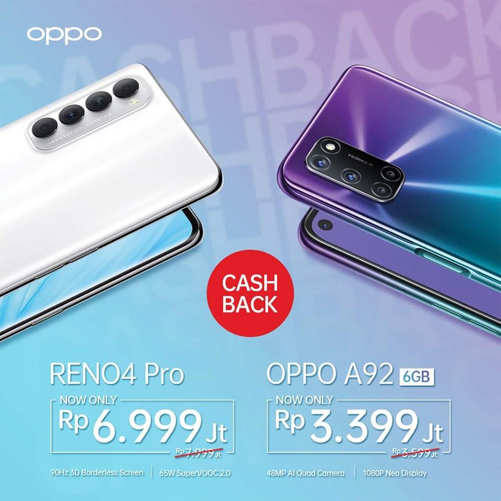Harga Baru OPPO A92 6GB & Reno4 Pro