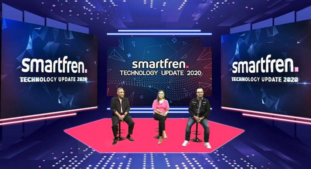Munir Syahda Prabowo VP Technology Relations and Communication Smartfren dan Sukaca Purwokardjono Deputy CEO Mobility Smartfren dalam acara virtual press conference Technology Update 2020