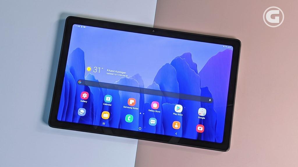 Layar Galaxy Tab A7