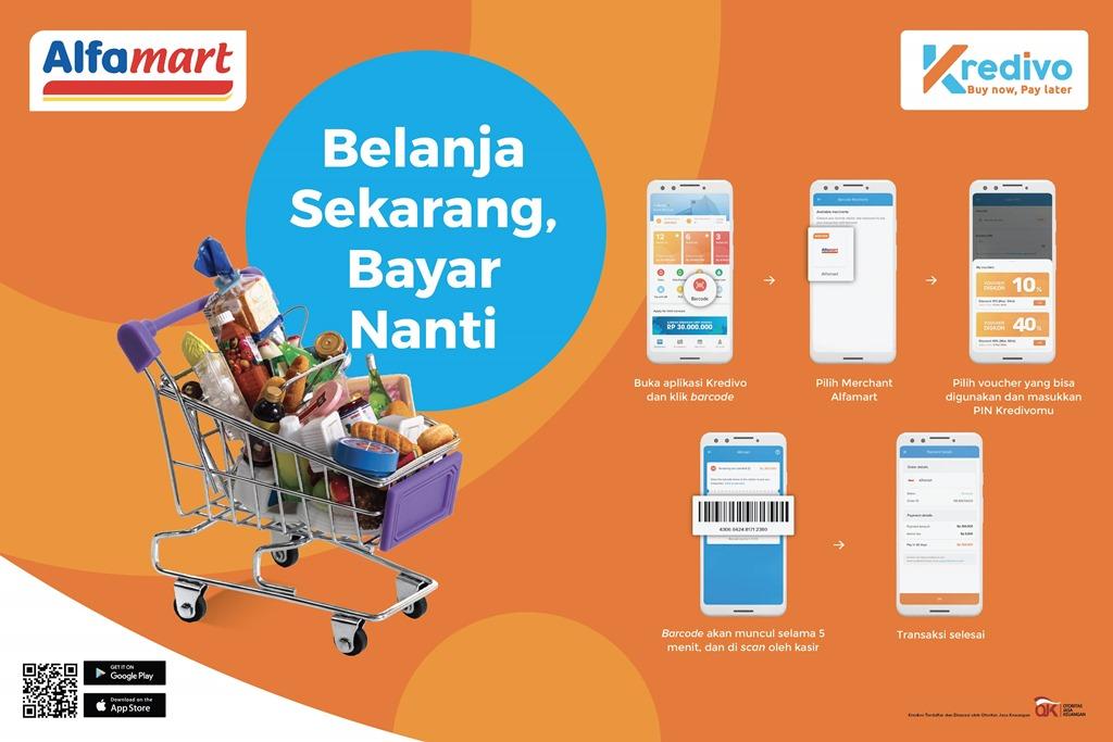 Metode bayar paylater Kredivo di Alfamart