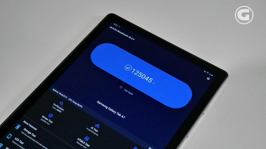 Skor Antutu Galaxy Tab A7