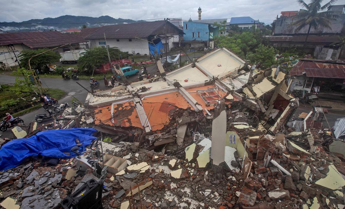 Kondisi Bangunan yang Rusak Akibat Gempa di Mamuju (Foto: Liputan6.com)