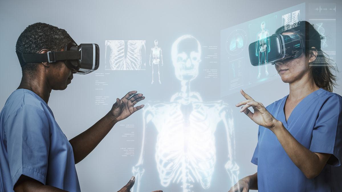 ilustrasi VR kesehatan