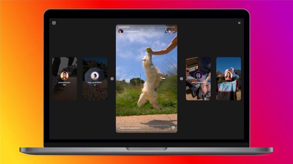 Instagram Stories desktop