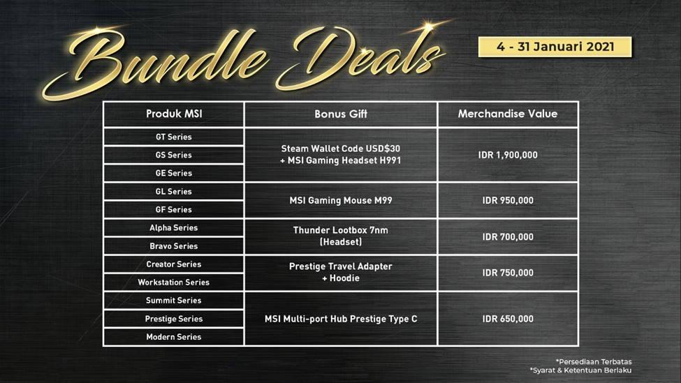 program bundle deals MSI 2020