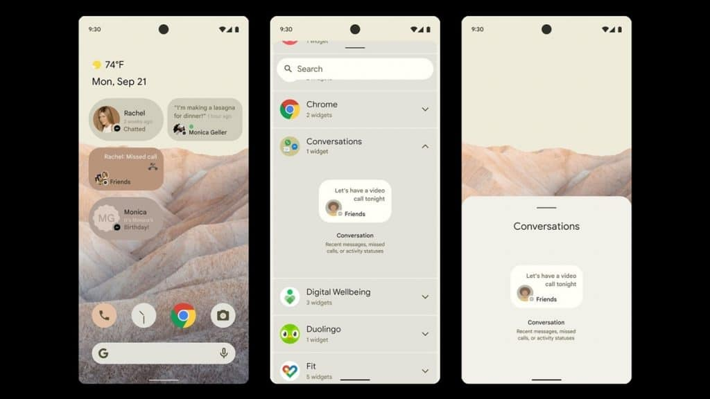 Widget Android 12