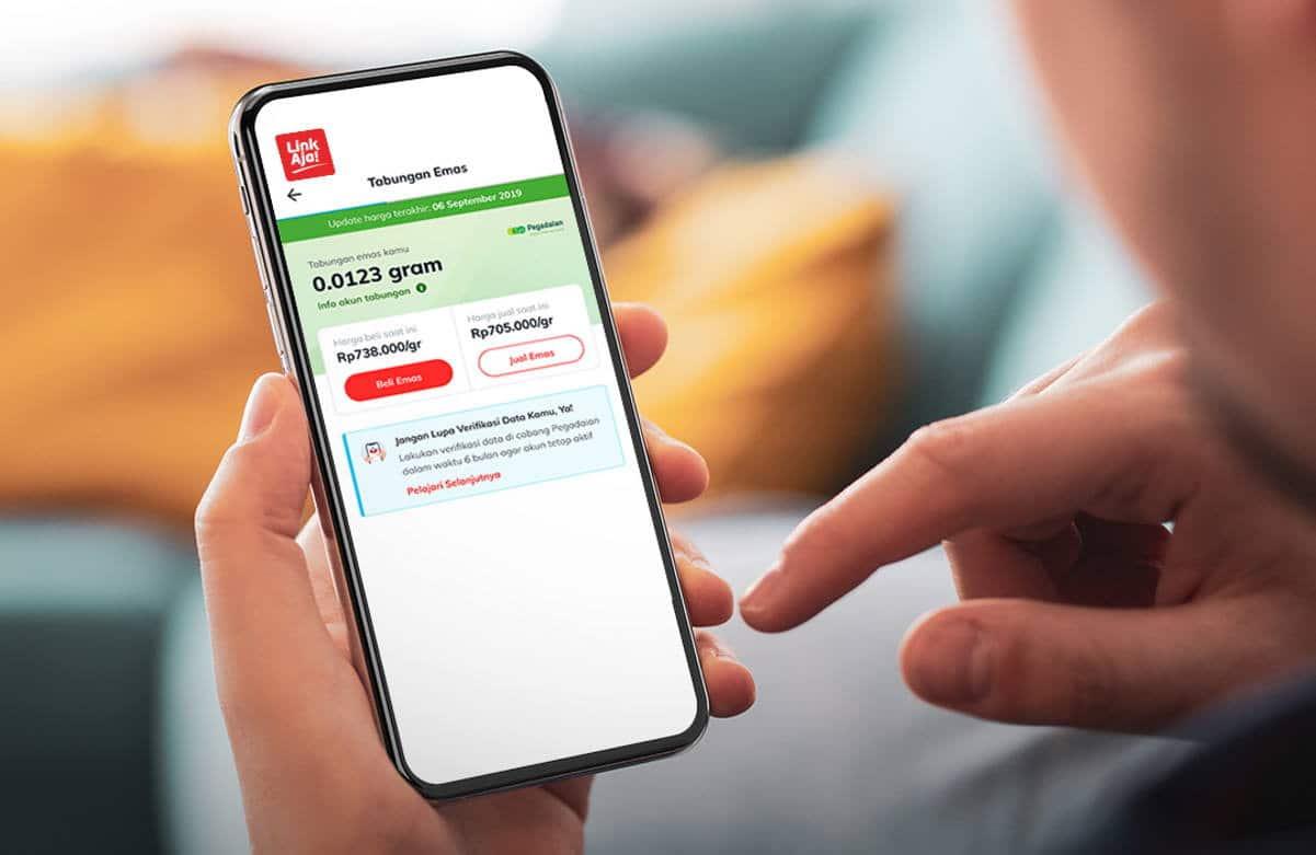 Tabungan Emas Pegadaian Aplikasi LinkAja