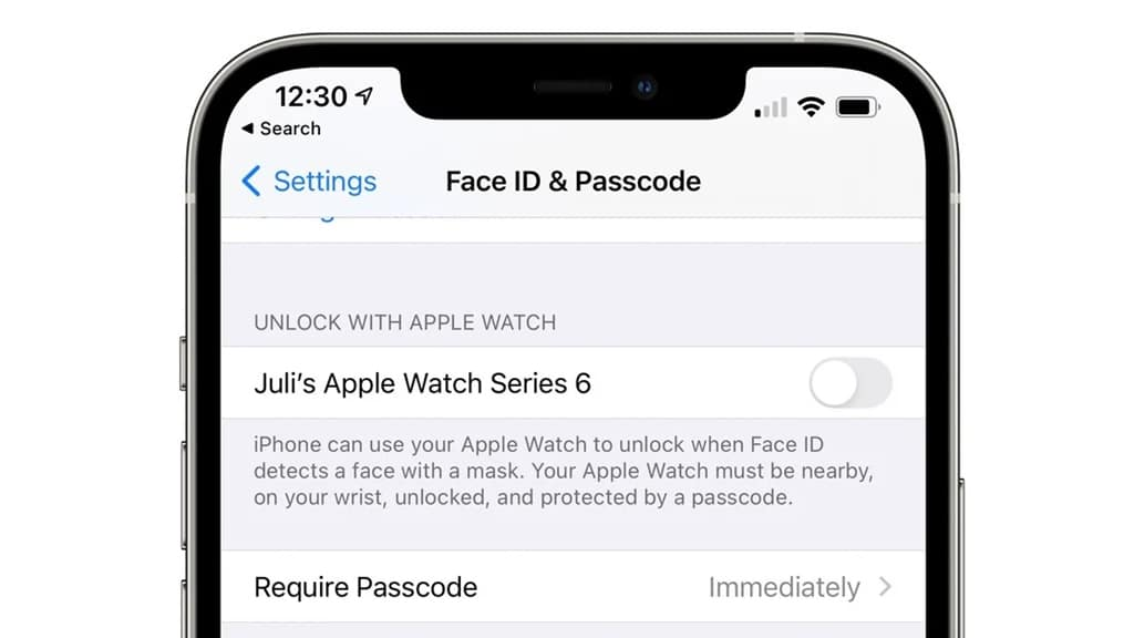 iOS 14.5 FaceID