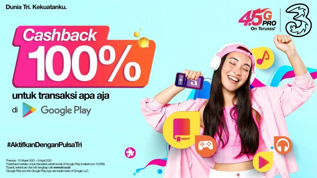 Kolaborasi 3 Indonesia dengan Google Play