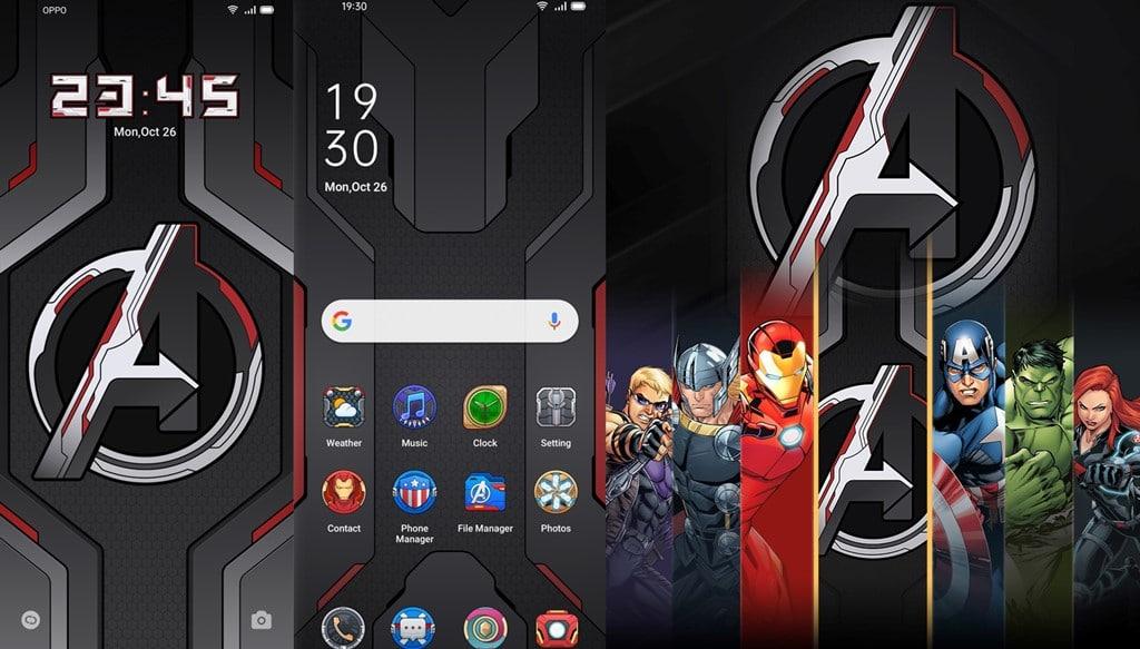 Tema OPPO Reno5 Marvel Avengers Edition