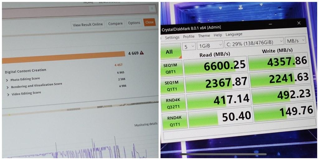 Skor benchmark Lenovo Yoga Slim 7i Carbon