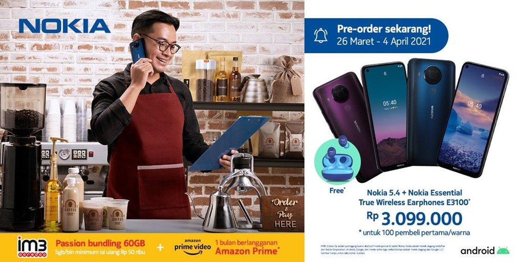 Pre-order Nokia 5.4