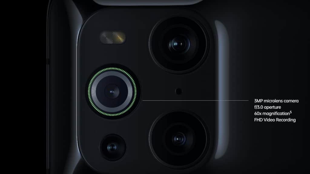 Kamera Mikroskop OPPO Find X3 Pro