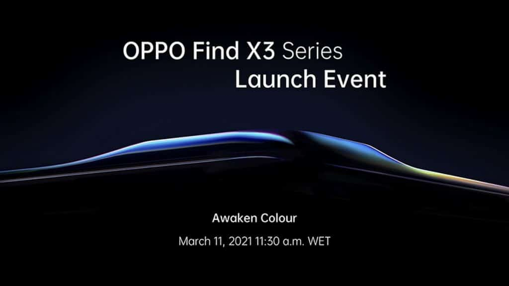 OPPO Find X3 Series launch date