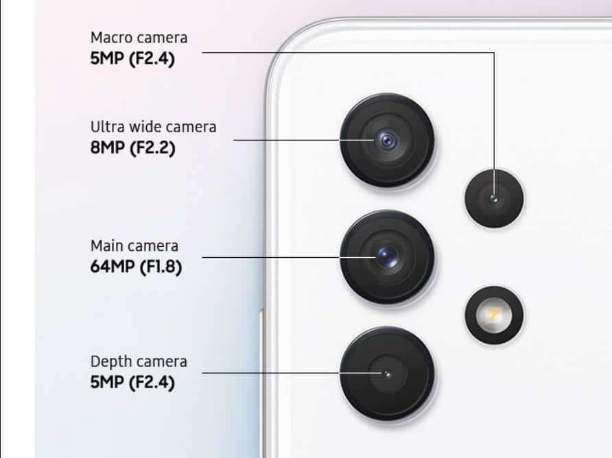 Samsung Galaxy A32 kamera