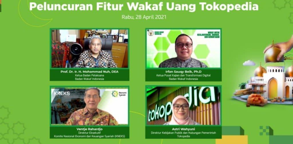 Peluncuran Fitur Wakaf Uang Tokopedia