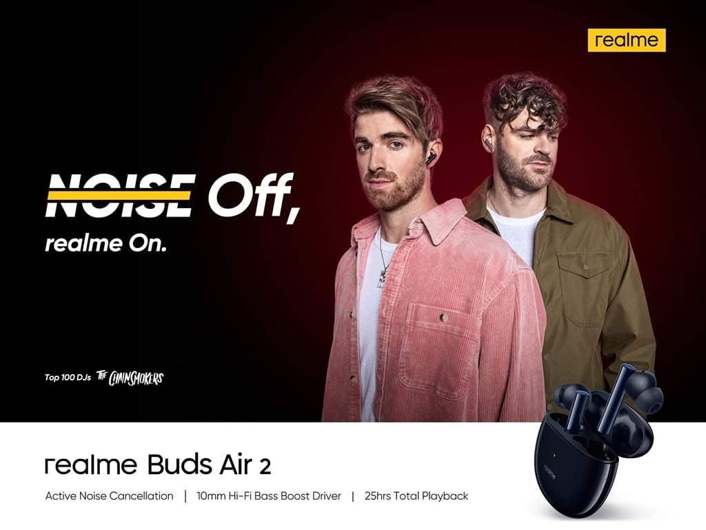 realme Buds Air 2 x The Chainsmokers