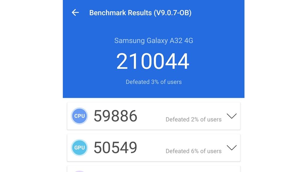 Samsung Galaxy A32 - Antutu