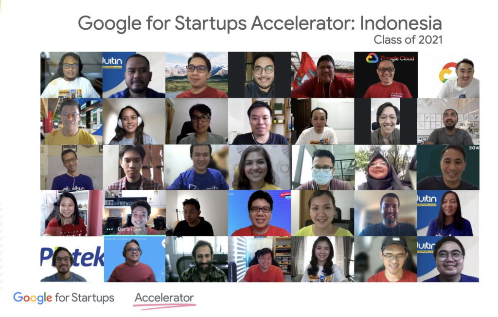 Participants of Google for Startups Accelerator Indonesia